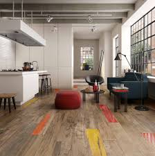 Wood In Kitchen Floors Wood Look Tile 17 Distressed Rustic Modern Ideas