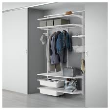 gallery of alluring storage system for your closet with four shelves and double hangers for clothes alluring wall sliding doors