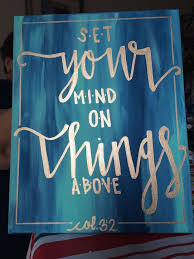 hand lettered verse canvas painting canvas wall