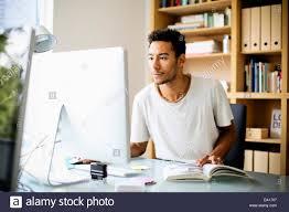 Designer Stock Photo Graphic Designer Using Computer At Work Stock Photo