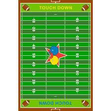 la rug fun time football field multi colored 3 ft x 5 ft area