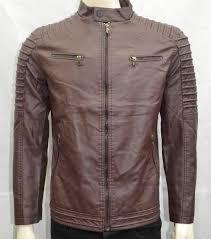 men boys faux leather jacket casual warm winter stylish jacket chocolate