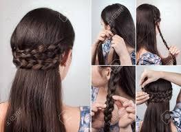 長いまたは中間の抜け毛のチュートリアルの簡単なヘアスタイル の写真