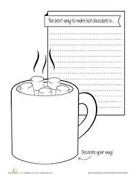 hot chocolate mug writing template.  Mug Winter The Holiday Season Christmas First Grade Second Writing  Sentences Stories Worksheets Hot Chocolate Prompt On Mug Template R