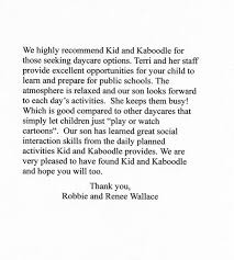 Kidnkaboodle Day Care References