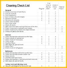 Daily Cleaning Checklist Template Professional House Awesome