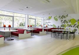 awesome white black brown wood glass modern design office cool beautiful red unique interior workspace walled adorable office decorating ideas shape