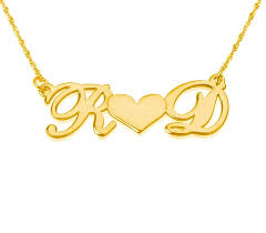 personalized 18k two gold letter