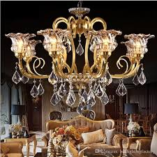 crystal modern copper chandeliers hanging lamp led vintage wrought copper restaurant dining room living room hotel clothing lighting