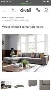 image is loading dwell large mocha corner sofa