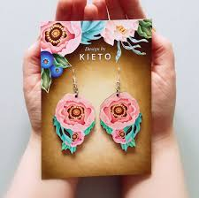 Design By Kieto Design By Kieto Colorful Earrings Out Of Wood The Finland