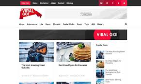 Viral Go Blogger Template Blogspot Templates 2018