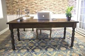 l shaped corner desk. Turned Leg L-Shaped Corner Desk In Tobacco Finish. L Shaped I