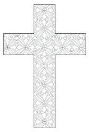 Cross Coloring Pages Printable Cross Coloring Page Flower Pattern