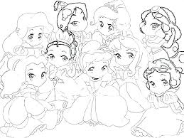 Disney Princess Color Pages Printable Princesses Coloring Free