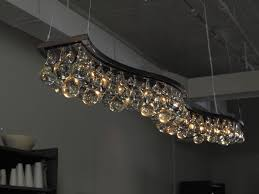 contemporary chandelier glass nickel bronze arctic pear double wave