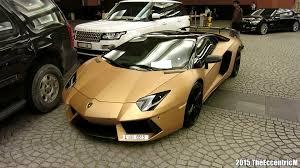 lamborghini aventador gold 2015. matte gold lamborghini aventador lp7004 at mall of the emirates youtube 2015 e
