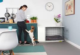 furniture pet crate. Piece Of Furniture Which Could Compliment Your Living Room, Kitchen Or Office Space, Making It A Dog Crate That Both Owner And Dogs Will Love. Pet