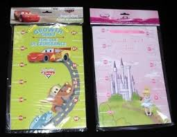 New Disney Princess Or Cars Height Growth Wall Chart On