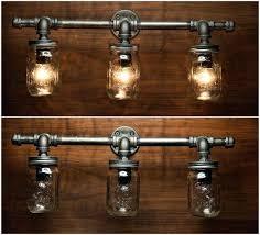 industrial pipe lighting. Diy Pipe Chandelier Industrial Lighting 3 Mason Jar Light Vanity By Home Design 1 G