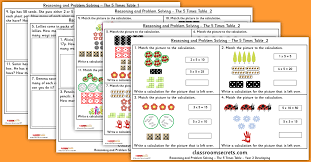 The 5 Times Table Year 2 Multiplication and Division Reasoning and ...