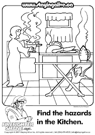 Small Picture Kitchen Safety For Kids Coloring Pages
