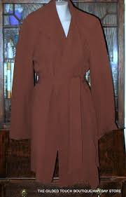 doncaster belted jacket tunic trench coat brown bark 12
