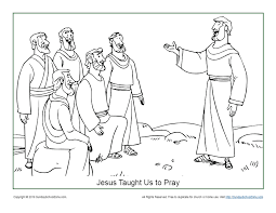 In the next photo, i had a fishing net laid out, and she has permitted me to use them here and allow you to download them! Jesus Taught Us How To Pray Coloring Page