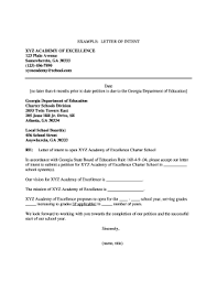 26 Printable Template For Letter Of Intent Forms Fillable