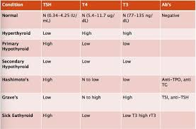 Tsh Range Chart Normal Thyroid Lab Tsh Levels Chart Thyroid Levels Tsh