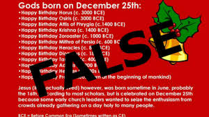 Were Many Pagan Gods Born On December 25th Heres The Truth