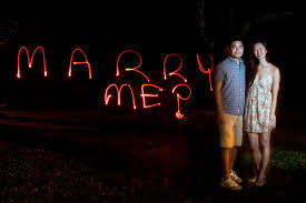 light painting photography proposal engagement