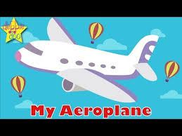 my aeroplane fun animated song for children e fly with little blue and debbie doo