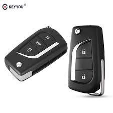 KEYYOU New <b>3 Buttons</b> Car Flip <b>Folding</b> Key Shell Blank <b>Remote</b> ...