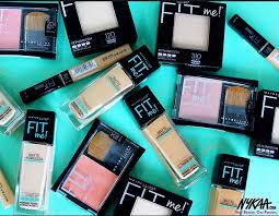 maybelline fit me range india review swatches makeup kit lakme box