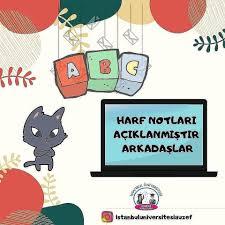 Harf notları açıklanmıştır. Aksisten... - İstanbul Üniversitesi Auzef  Sağlık Yönetimi Lisans Tamamlama