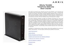 What Is Us Ds Light On Xfinity Modem Xfinity Tg1682g Ct Telephony Gateway User S Guide Manualzz Com