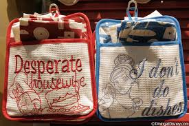 minnie mouse and cinderella potholder and towel set