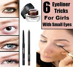 tutorial you if you have small eyes can use eyeliner tricks to improve the look of natural eye makeup