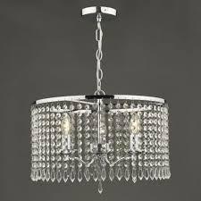 jocelyn elegant 3 light ceiling pendant in polished nickel finish with crystals joc0338