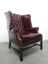 Leather Wingback Chair For Sale Pair Of Vintage Leather Tufted Wingback Chairs For Sale At 1stdibs