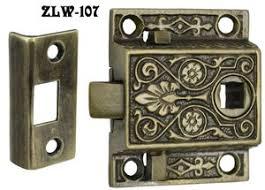 reproduction antique door locks. Recreated Locking Victorian Screen Door Latch 1.5\ Reproduction Antique Locks Y