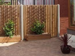 panel fencing on concrete slotted or wooden posts wooden fencing installation worcester