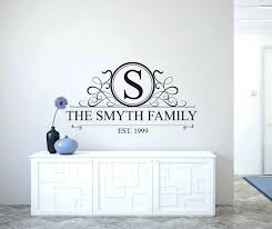 monogrammed wall decals personalised family name monogram wall decal  personalised family name monogram wall decal personalised