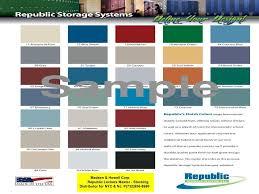 Republic Steel Lockers Color Chart Madsen Howell Est