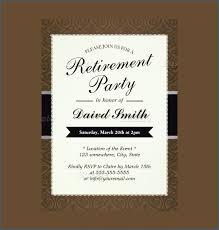 Printable Retirement Luncheon Invitation Template Free Template Design