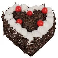 Black Forest Heart Shaped Cake 1kg At Rs 650 No Black Forest
