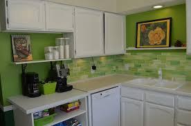 green kitchen backsplash tile