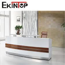 Foshan office furniture office counter design white salon reception desk