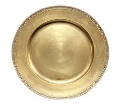 rhinestone round 13 charger plates gold